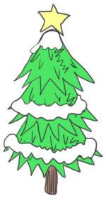 クリスマスツリー 書き方11